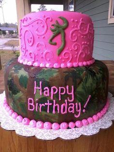 Hunting camp birthday cake!! Yep that's my kinda cake! ......ooo my girls would love this , gotta love county gals