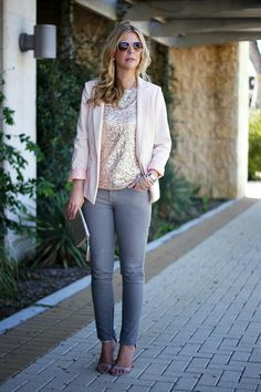 I am absolutely obsessed with this pastel business look!! Like OMG ♥