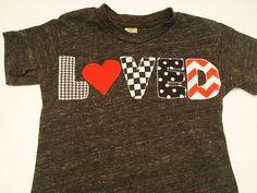 Valentine's day shirt chevron polka dot childrens Valentines Day shirt for Boys and Girls. $30.00, via Etsy.