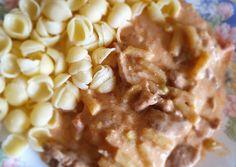 Temesvári sertéstokány | Babai János receptje - Cookpad receptek Cereal, Bacon, Pork, Breakfast, Kale Stir Fry, Morning Coffee, Pork Chops, Pork Belly, Breakfast Cereal