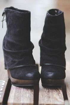 Miss Foxy Suede Booties bring bombshell to a whole new level! Miss Foxy Suede Booties bring bombshell to a whole new level! Suede Booties, Black Booties, Bootie Boots, Black Wedge Boots, Women's Shoes, Me Too Shoes, Strappy Shoes, Court Shoes, Lace Shoes