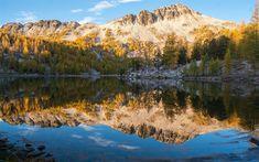 Download wallpapers mountain lake, morning, sunrise, mountain landscape, rocks