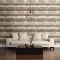 A-Street Prints Weathered Plank Wood Texture Wallpaper - 2701-22346