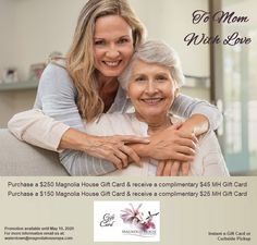 𝗖𝗲𝗹𝗲𝗯𝗿𝗮𝘁𝗲 𝗠𝗼𝗺 with a Magnolia House Gift Card! You know she will be pampered and treated with love. Purchase a Gift Card online today, Mother's Day is just around the corner. Order online at: www.magnoliahousespa.com/gift_card Email us at: boutique@magnoliahousespa.com . . #mothersday #love #mom #women #mothersdaygift #happymothersday #mothersday2020 #firstmothersday #mothersdaypresent #mothersdayweekend #mothersdaygiftideas #mothersdaysale #happymothersday2020 #mothersdayspecial Mothers Day Weekend, Mothers Day Special, First Mothers Day, Mothers Day Presents, Happy Mother S Day, Magnolia House, House Gifts, House Of Cards, Corner