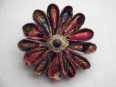 Kanzashi Flower Pin Fabric Flower Pins, College Fund, Kanzashi Flowers, Handicraft, Sewing, Car, Crafts, Inspiration, Jewelry