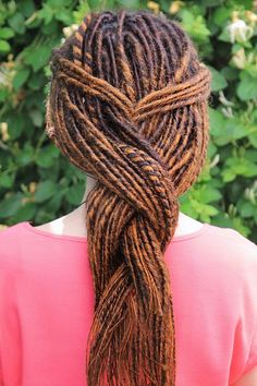 Braided Dreads ❤ #lovehairstyles #hair #hairstyles #haircuts