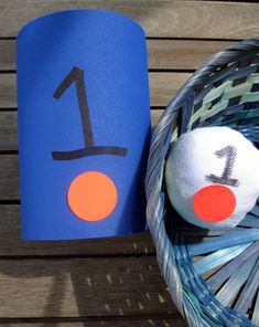 Use this easy-to-make beanbag game to teach your preschooler to count