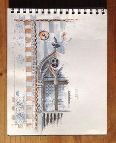Venetian window sketch ~ John Edwards