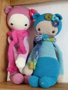 BINA the bear made by caticoud / crochet pattern by lalylala