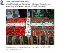 Publicado por un supermercado después de la victoria de Dinamarca