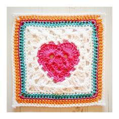 Crochet Tea Party: Free crochet heart granny square pattern