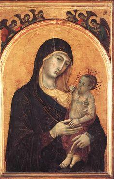 Galleria Nazionale - Perugia  Duccio di Buoninsegna - Madonna and Child with Six Angels