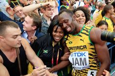 Usain Bolt of Jamaica celebrates victory My Man, A Good Man, Usain Bolt, Living Legends, Try Harder, World Championship, Jamaica, Moscow, Athletes