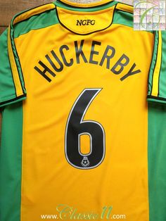 Relive Darren Huckerby's Championship season with this vintage Xara Norwich City home football shirt. Norwich City Football, Classic Football Shirts, How To Memorize Things, Soccer, Retro, Store, Vintage, Football, Futbol