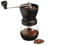 The conical burrs of this commercial coffee grinder is constructed from tempered steel and can be easily operated at 1400 rpms. It also comes with a transparent chamber and hopper with a black stand. It weighs almost 9 pounds and is twelve inches tall in size. Click Here: http://electriccoffeegrinder.net/black-and-decker-coffee-grinders-reviews/