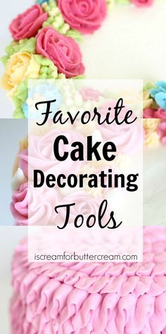 Cake Decorating Tools I Love - Cake Decorating Cupcake Ideen Creative Cake Decorating, Cake Decorating Supplies, Cake Decorating Techniques, Cake Decorating Tutorials, Creative Cakes, Cake Making Supplies, Decorating Ideas, Cookie Decorating, Gorgeous Cakes