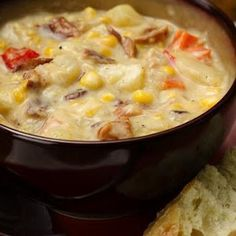 Slow Cooker Bacon and Corn Chowder Recipe ~~  http://www.keyingredient.com/recipes/623117383/slow-cooker-bacon-and-corn-chowder/