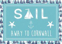 Finished 'sea salt' postcard for Cornwall