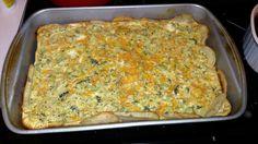 Broccoli cheddar quiche with potato crust