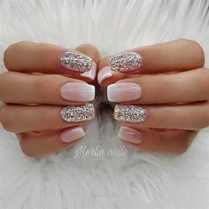 23 Best Gel Nail Designs to Copy in 2019 French Ombre and Glitter Gel Nails The post 23 Best Gel Nail Designs to Copy in 2019 appeared first on Berable. 23 Best Gel Nail Designs to Copy in 2019 Cute Gel Nails, Glitter Gel Nails, Gel Nail Art, Pretty Nails, Pink Nails, My Nails, Blue Nail, Blue Glitter, Sparkly Nails