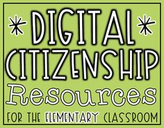 Digital Citizenship Resources for the Elementary Classroom – Education Star Citizen, Computer Lab Classroom, Computer Science, Computer Class, Elementary Computer Lab, Computer Lessons, Future Classroom, Digital Citizenship Lessons, Elementary Counseling