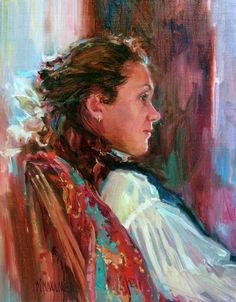 Reverie, painting by artist Mary Maxam
