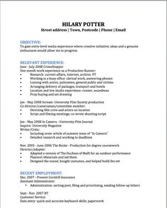 film production assistant resume template httpwwwresumecareerinfo - Film Resume Template