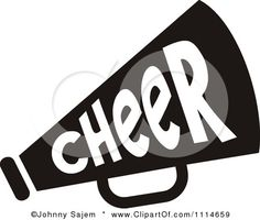 cheer megaphone clipart black and white clipart panda free rh pinterest com Cheerleading Megaphone Outline Megaphone Art