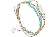 Bracelet multi-tour plume en acier Zag Bijoux