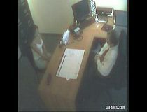 girl in boss office