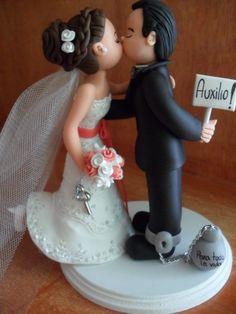 Novios, Figuras Pastel De Boda, Cake Toppers Personalizados - $ 439.00