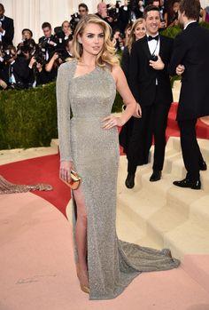 Kate Upton on the Met Gala red  carpet. Manicure by Deborah Lippmann.