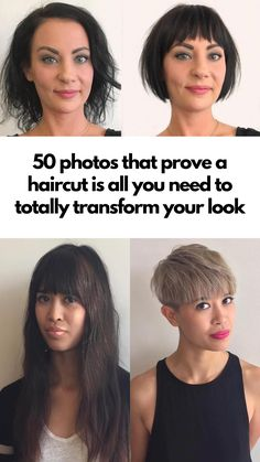 These photos prove that all you need is a haircut to transform your look. Health Clear Skin Health Remedies Health Tips Health For women Health Natural Health Tips Easy Hairstyles, Girl Hairstyles, Casual Hairstyles, Medium Hairstyles, Latest Hairstyles, Celebrity Hairstyles, Wedding Hairstyles, Haircuts With Bangs, Haircuts For Thin Fine Hair