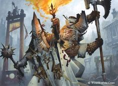 """Wayne Reynolds 2015: """"Lunarch Inquisitors"""",  Magic the Gathering - Shadows over Innistrad © Wizards of the Coast:"""