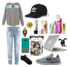 """""""STYLE SUNDAY//LAZY DAY"""" by fionacummings on Polyvore featuring Dsquared2, New Balance, Speck, NIKE, Clinique, Carmex, H&M, Faber-Castell, Casio and Agent 18"""