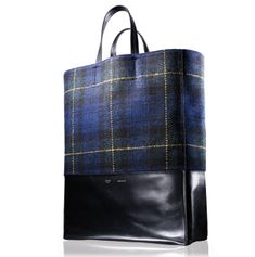 leather wool tartan bag tote recycled whatever on Pinterest ...