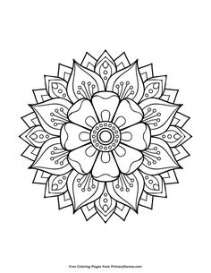 coloring pages to print FREE Floral Mandala Coloring Page printable. PRINT and COLOR Mandalas PDF Coloring Books from PrimaryGames. Our online collection of EASY and ADULT Coloring Pages feature the BEST pictures for you to color.