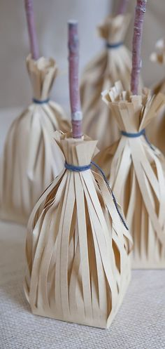 Precious witches' broom treat bags!