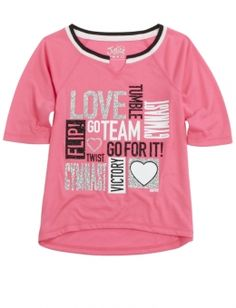 Gymnastics Baseball Tee from justice for girls