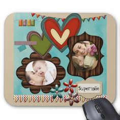 Mousepad especial para mamae, no layout203 ...... #MothersDay #DiaDasMaes #gifts #presentes #mamae #personalizado #mom #custom #zazzle #gatalua