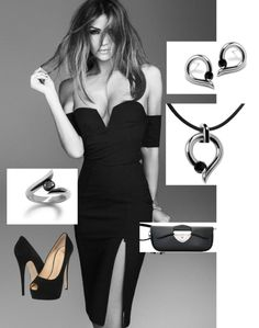 """Sexy night out....with a touch of steel"" by foxyrox ❤ liked on Polyvore"