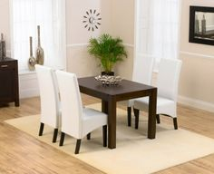 4ab1cf948fd3 Buy Mark Harris Verona Solid Dark Oak Dining Set - Rectangular with 4  Dakota Dark Ivory Chairs online by Mark Harris Furniture from CFS UK at  unbeatable ...