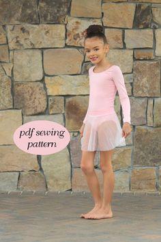 Ballet leotard ballet skirt pdf sewing pattern by tumblentwirl, $8.50