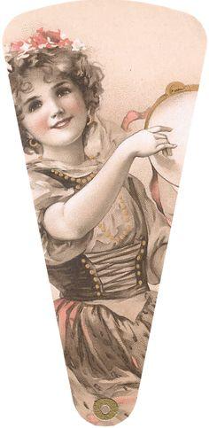 1906 May Bowley oLD STyLe MuSiC LaDiES FaN  ____Freebie Printable Fan  ____WingsofWhimsy