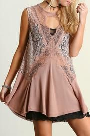 Sleeveless Lace Tunic $55.00