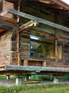 r e m a s h — maison mase conversion ~ savioz fabrizzi. Barn Renovation, Farmhouse Renovation, Farmhouse Remodel, Alpine Modern, Swiss House, Mountain Cottage, Architecture Design, Chalet Style, Wooden House
