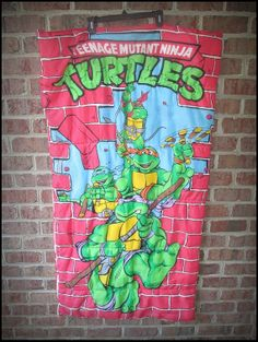 Vintage 80's Teenage Mutant Ninja Turtles Sleeping Bag by CharchaicVintage, $25.00