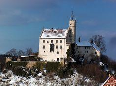Burg Gößweinstein im Winter, Fränkische Schweiz, Bayern, Deutschland