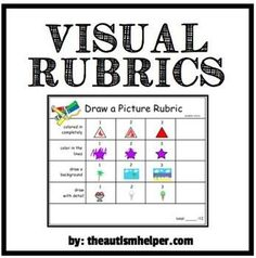 Rubrics are a great way to break down an activity or task into discrete skills and score a student's ability to accomplish each task. Using visuals. Number Words Worksheets, Preschool Assessment, Formative Assessment, Autism Helper, Behavior Plans, School Fun, School Stuff, School Ideas, Teacher Notebook