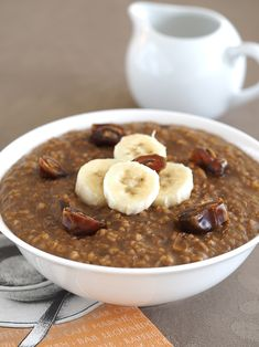 Coffee, Date and Banana Oatmeal   The Breakfast Drama Queen - used quick oats. Added double the amount of oats and additional dates for two servings. Kind of bland. Would add additional dates and use vanilla almond milk. -hg